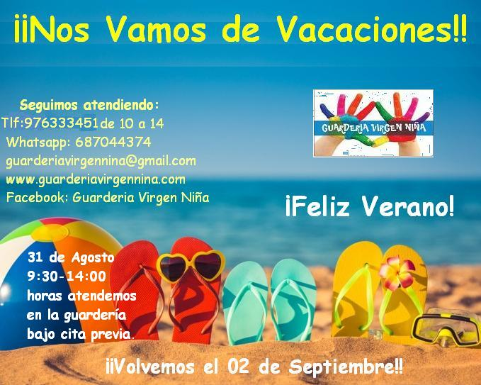 Contacto Mes de Agosto (Vacaciones)
